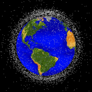 Orbiting satellites and debris