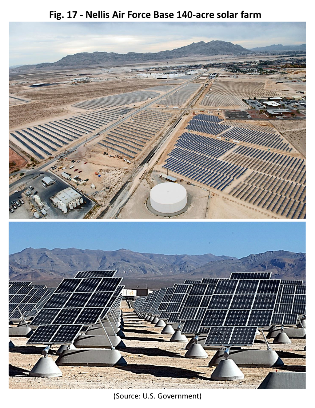 Figure 17 – Nellis Air Force Base 140-acre solar farm